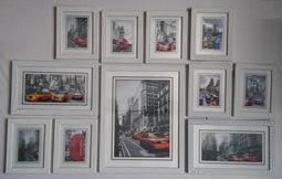 купить оригинальный набор фоторамок на стену