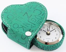 Часы, оригинальный будильник в форме сердца бирюзовые Купить
