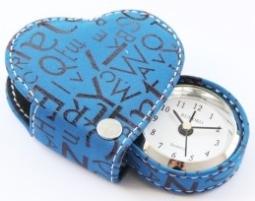 Часы, оригинальный будильник в форме сердца синий Цена