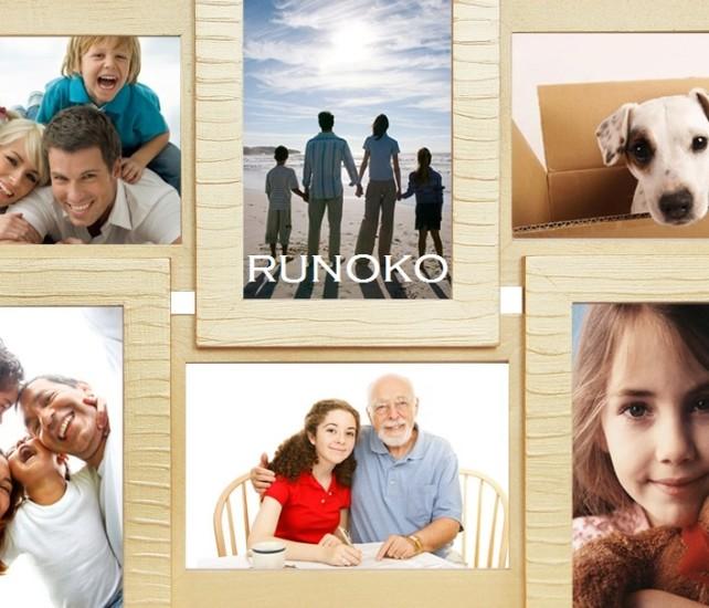 Бежевая рамка для фотографий с рельефом от художников Руноко