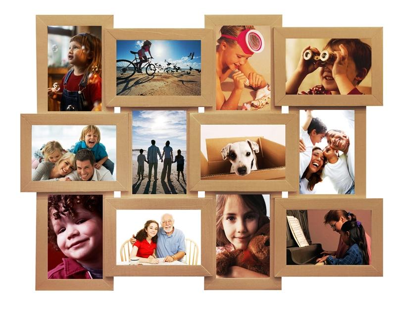 Яскравий беж на 12 фотографій класна фоторамка купити в інтернет-магазині