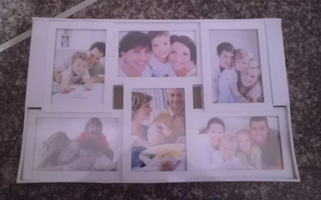 пластикова біла рамка для фото
