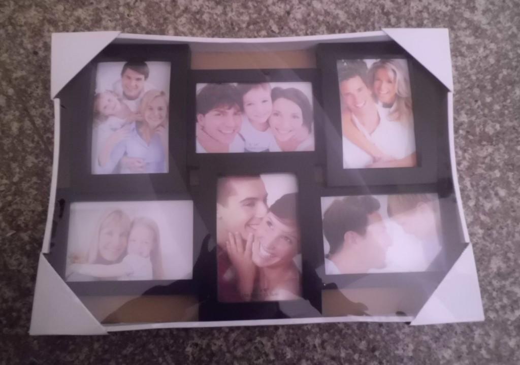 black frame photo collage