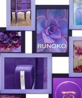 Фиолетовая двух-цветная рамка коллаж Руноко