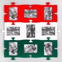 """Червоно-біло-зелена фоторамка-пазл купити Чернівці, Кам""""янець-Подільський, Хотин, Кіцмань, Герца, Коломия та Снятин"""