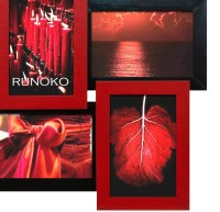 Коллаж фоторамка Красное и черное