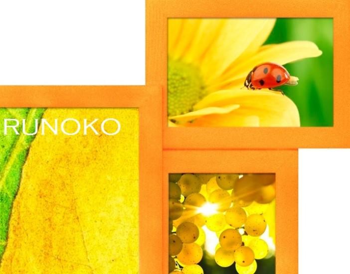 Оранжевая мультирамка Руноко Персиковая