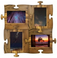 Wooden puzzle frames for many photos - directly from factory