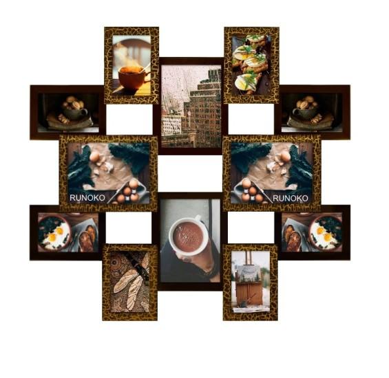 Мультирамка Рио шоколад на 12 фотографий