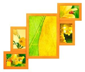 настенные большие рамки для фоток желтые Киев