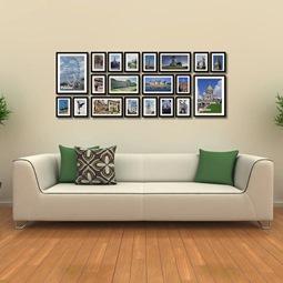 набор деревянных фоторамок на стену дешево Киев