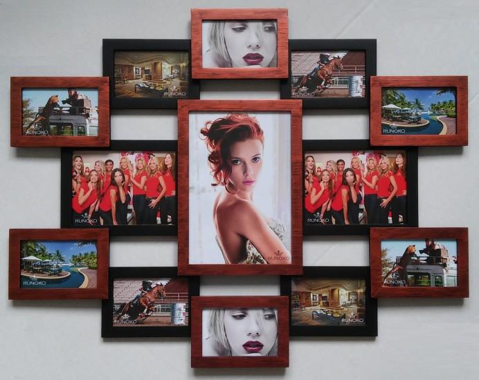 """Красивая фоторамка для фотографий """"Руноко Симметрия"""" цвета Медное мерцание"""