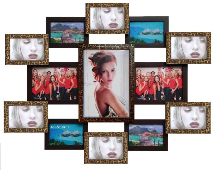 Мультирамка Симметрия шоколад на 13 фотографий