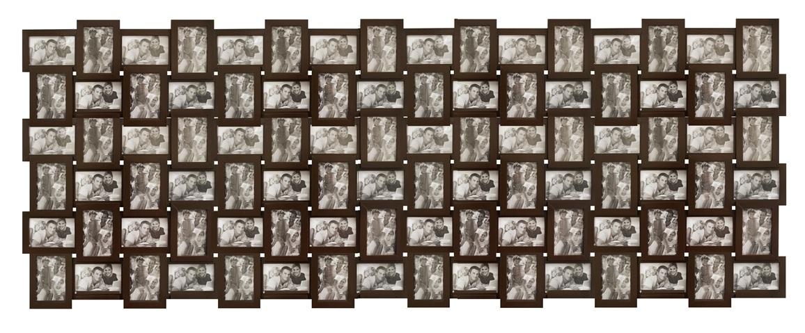 Интерьерная мультирамка в темно-коричневом стиле для 96 фото
