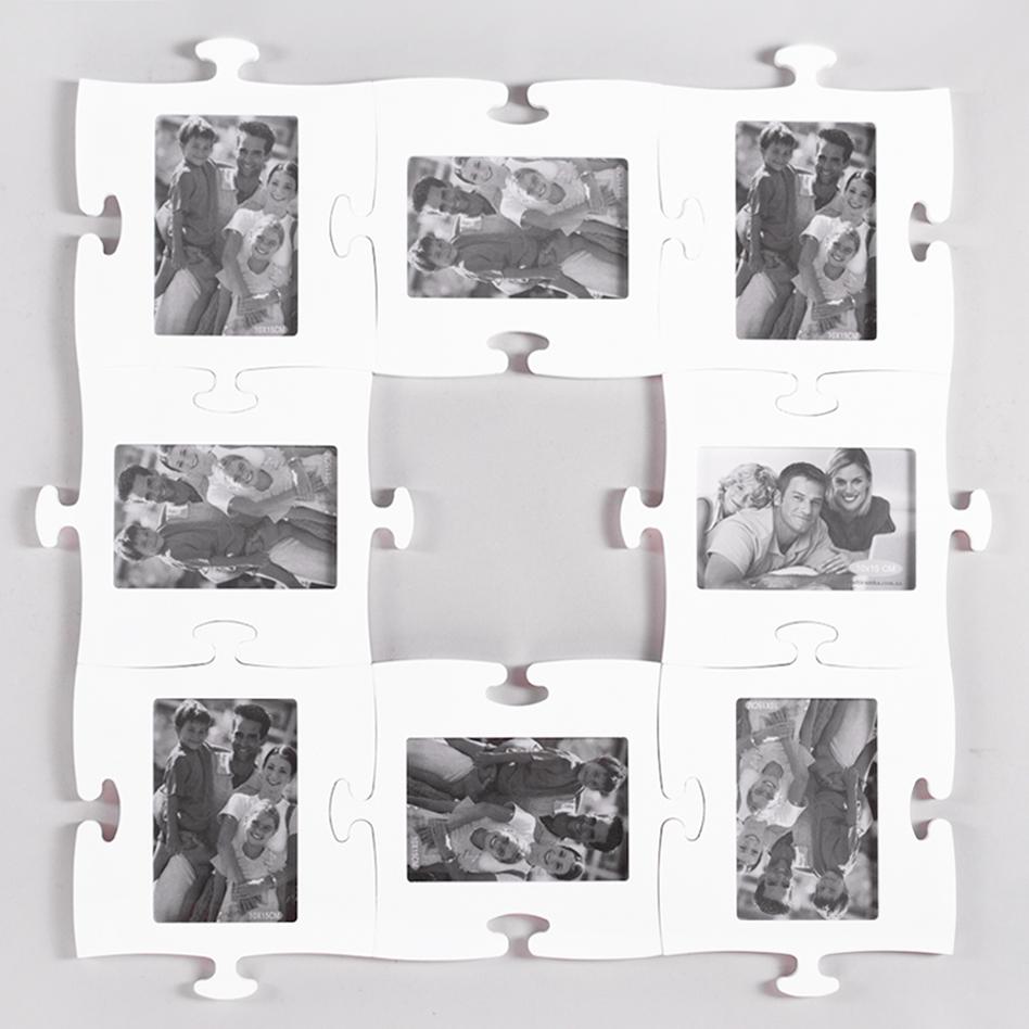 White photo collage