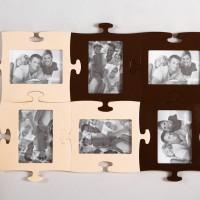 фотоколлаж светло-коричневый и темно-коричневый Винница и Одесса