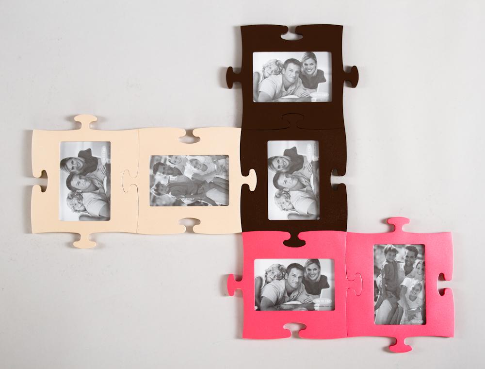 Большая фоторамка на много фотографий разного цвета