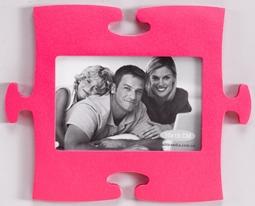 Фотопазл сборный для ребенка розовый детский