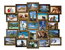 Великий фото коллаж коричневий з золотом купити гуртом у Львові, Чернівцях та Хмельницькому