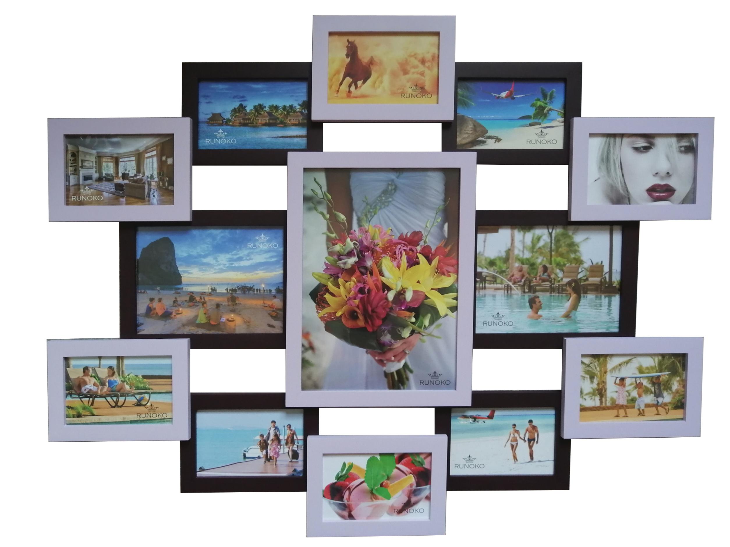 Мультирамка Симметрия Фиолетовая на 13 фотографий